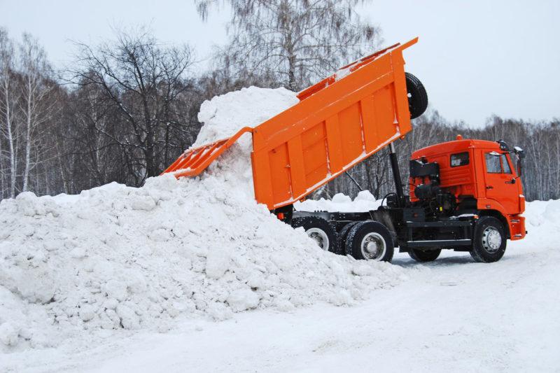 Вывоз снега уборка